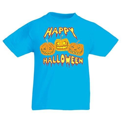 Kinder T-Shirt Happy Halloween! Party Outfits & Costume - Gift Idea (3-4 Years Hellblau Mehrfarben)