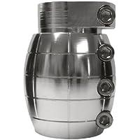 Team Dogz klein Tretroller-Einspannung Grenade, Silber