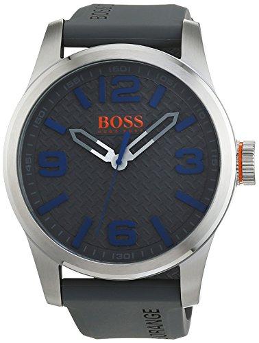 Hugo boss orange 1513349 orologio al quarzo da uomo, display analogico classico e cinturino in silicone