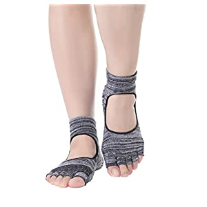 Macohome Yoga Damen Socken Gradient Design für Tanz Pilates Sport Anti-Rutsch Zehensocken