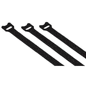 Hama Klett-Kabelbinder Set, 12x200mm, 20 Stk. (Klettbänder mit Ösen,...