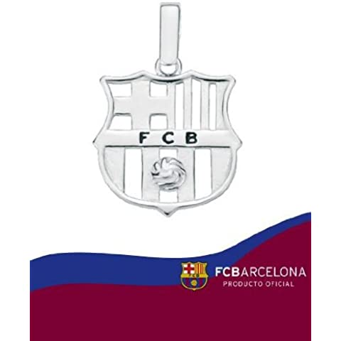 COLGANTE ESCUDO F.C.BARCELONA 10-034 PLATA DE LEY 18 MLM CALADO