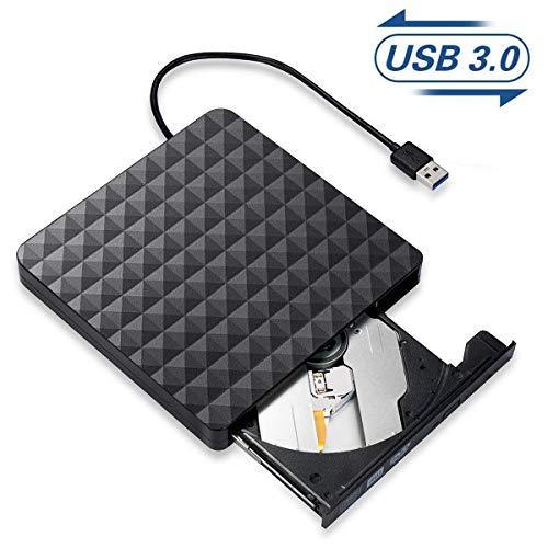 Grabadora CD/DVD Externa,Lector Unidades de Discos Externos USB 3.0 Po