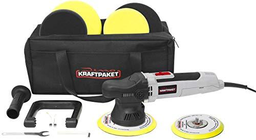 Dino KRAFTPAKET Exzenterpoliermaschine 230V 650W 1600-6400 U/min 125/150mm 9mm Hub 640296 Exzenter