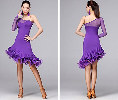 Robe de danse latine Professional / vêtements de performance de danse Violet