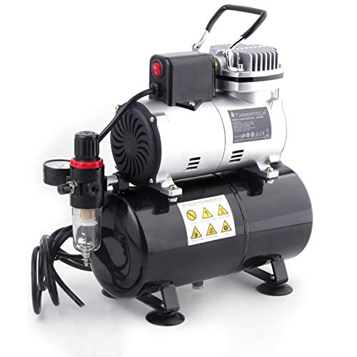 TIMBERTECH compresor aerografo mejorado con ventilador de enfriamiento / tanque de aire / autoarranque...