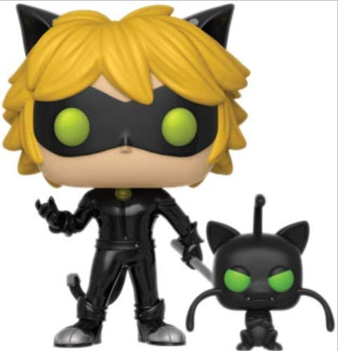 Funko - Miraculous Color Tales of Ladybug and Cat Noir Pop Vinyl Figure with plagg, 9 cm, 28638