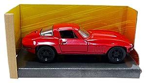 Jada Toys-Corvette Letty Fast and Furious Chevrolet, 98306r, Rojo, en Miniatura (Escala 1/32
