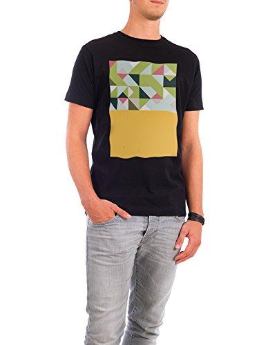 """Design T-Shirt Männer Continental Cotton """"The Nordic Way XVII"""" - stylisches Shirt Abstrakt Geometrie von Pascal Deckarm Schwarz"""