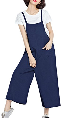YAN Damen Jumpsuit Gr. Large, blau
