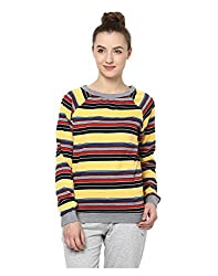 Yepme Jodie Striped Sweatshirt - Yellow & Grey -- YPMSWEAT5104_S