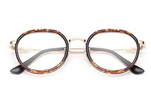 Fashion Glasses-brillenfassungen Brille Retro Strahlenschutz, Leopardenmuster
