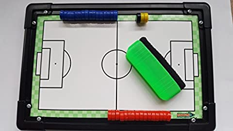 Diamond Football Tactic Board 30cm x 20cm with Magnetic Counters