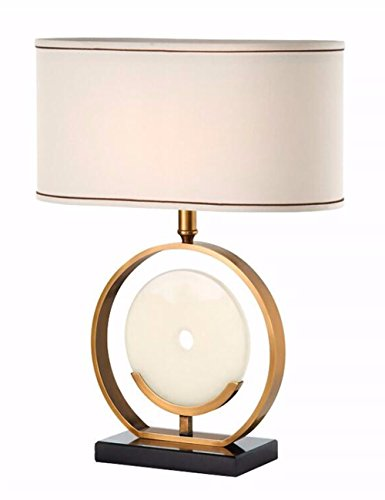 CJSHV-im amerikanischen stil, reines kupfer - marmor, lampe, minimalistischen modell lampe, mieter hall verkäufe hotelzimmer lampe, lampe mit soft - outfit ()