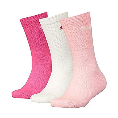 Puma Kinder Sport JUNIOR 3P Socken, pink Lady, 31-34 (3erPack)