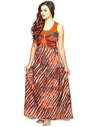 Kleid Trägerkleid Maxikleid Abendkleid Sommerkleid Strandkleid Kleider Ärmellos Ethno Goa Joy