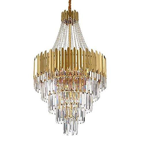 LMDH Kristallleuchter-Beleuchtung Moderne Pendelleuchten Chrom Pendelleuchten