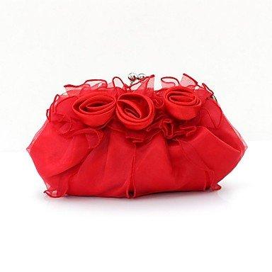 Women's fashion silk Blume Abendessen Tasche Black