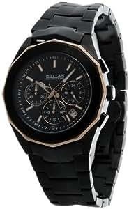 Titan Tycoon Chronograph Black Dial Men's Watch - NE1563KM04