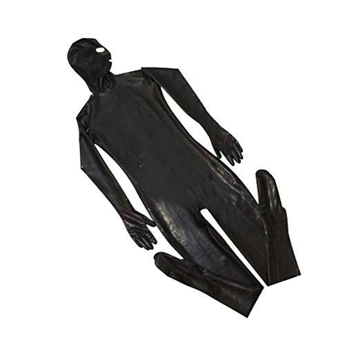 Kostüm Heiße Männlich - Gankmachine Männer PU-Leder-Masken Haube Sexy Bodysuit Nachtclub Prisoner Kostüm männlich Erotik Fetisch Overall