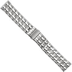 Uhrbanddealer 22mm Ersatzband Uhrenarmband Band Edelstahl 170622