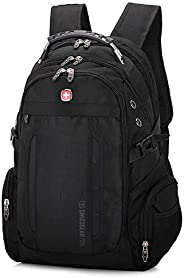 Swiss Military Army Multifunction 15inch Laptop Bag Backpack External USB Charge Schoolbag Black