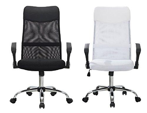 Delman Drehstuhl Bürostuhl ergonomische Chefsessel mit Netzrücken Wippfunktion feste Armlehne Höhenverstellbar 02-1003