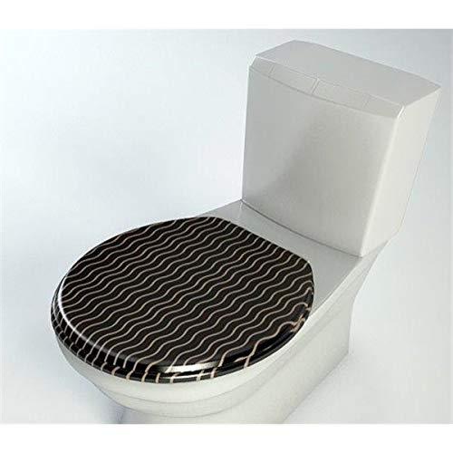 Inconnu Autre - Abattant de Toilette Bois compresse MDF WC Double Frein Chute ralentisseur Charnières INOX