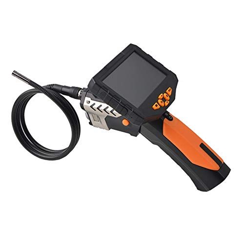 INSBORE Industrielles Endoskop Handheld 7mm Halbstarre Röhre 2600mAh Batterie 16G Speicher 1080P Full HD 4,3 Zoll LCD-Digitalprüfungskamera DVR wasserdichte Endoskop-Schlangenkamera (16.4FT / 5M) Handheld Lcd-dvr