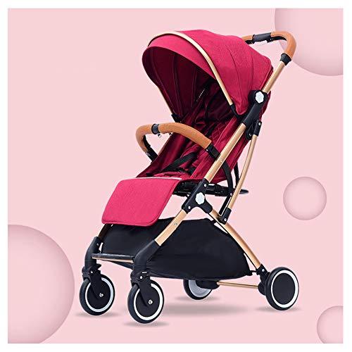 HHSJL Allrad-Kinderwagen, Leichter und kompakter Babyrücken, Einhand-Klappgurt, Fünf-Punkt-Sicherheitsgurt, geeignet für Babys von 0 bis 3 Jahren,B