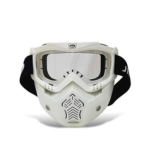 Adisaer Fahrrad Schutzbrille Radfahrenbrillenmotorrad Schutzbrillen Im Freien Schutzbrillenlokomotive Retro Maskenbrillen Maske Reiten White White Damen Herren