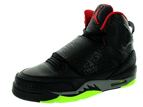 Nike Jordan Bambini Jordan Son Of Bg Nero / palestra Red / cl grigio / grn Pls scarpa da basket 5 ba