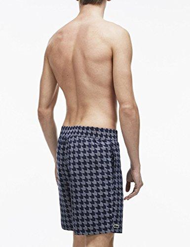 Lacoste Men's Men's Blue Swimshorts With Print Polyamide Navy