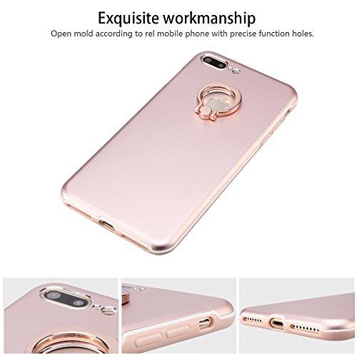 SKYLET iPhone 7 Coperchio , Goccia Protezione Custodia Protezione duro posteriore con Ring Stand Holder PC Case per iPhone 7 Rosa Oro Oro