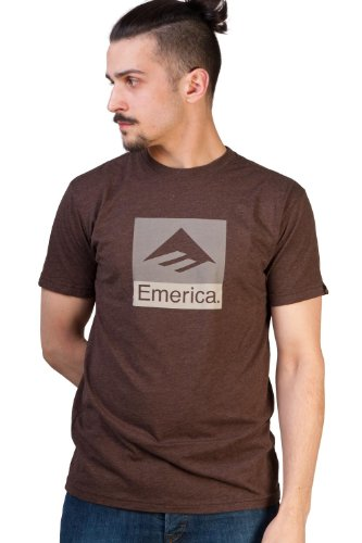 Emerica Herren T-Shirt Combo 10 Brown Heather, S Gold Pur Tee