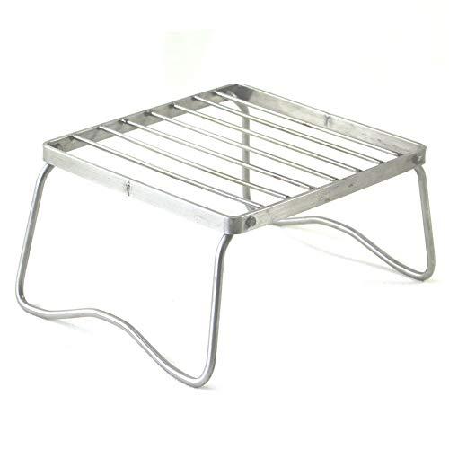 ZAK168 Edelstahl Faltbarer Brenner Herd Ständer Klappbar Grill Ofen Rack für Outdoor Camping Wandern Picknick Kochen Werkzeuge, Wie abgebildet, M (Outdoor-grill-herd)
