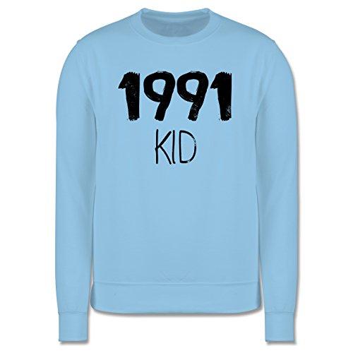 Geburtstag - 1991 KID - Herren Premium Pullover Hellblau