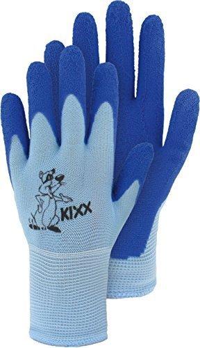 Kinderstrickhandschuh Nylon mit Latexbeschichtung Arbeitshandschuh (Größe 4 / blau)