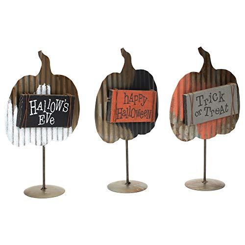 Honig in Me Kürbis Fall Medley 10x 6Metall Holz Halloween-Schild auf Podest Set von 3 (In Halloween Zeichen 6)