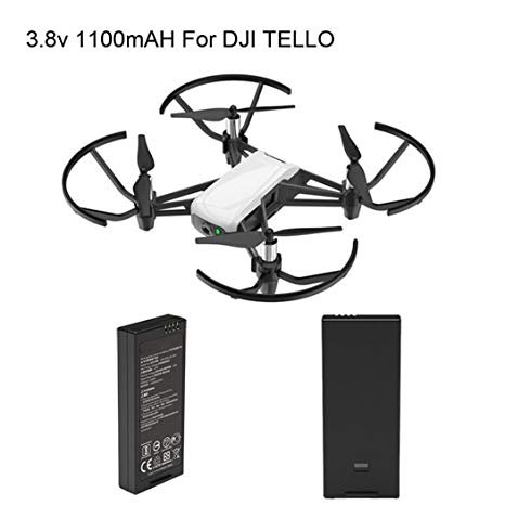 TELLO DJI Ryze Drone with 2 Extra Intelligent Battery 1100mAh 3.8V 4.18Wh