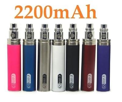 GS II 2200 mAh Leistung volle Batterie 2016 Ausgabe riesige 510 E- Shisha e-Zigarette + mini pro Tank + Null Nikotin Geschmack + USB-Ladegerät + Random Ego Fall rot von ego