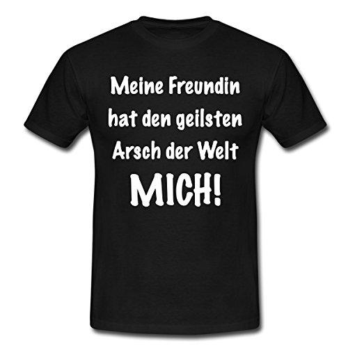 Spreadshirt Geilster Arsch der Welt Männer T-Shirt, L, Schwarz