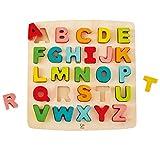 Hape- Puzzle Alphabet Majuscules, E1551, Beige