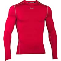 Under Armour, Cg Armour Crew 1265650, Maglia A Maniche Lunghe, Uomo, Rosso (Red/Steel 600), M