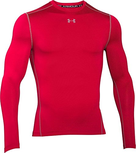Under Armour, Cg Armour Crew 1265650, Maglia A Maniche Lunghe, Uomo, Rosso (Red/Steel 600), S