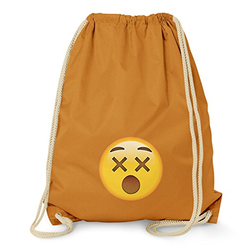 TEXLAB Dizzy Face Emoji - Turnbeutel, orange
