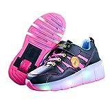 Kinder Schuhe mit Rollen Skateboardschuhe für Jungen Mädchen Rollschuhe...