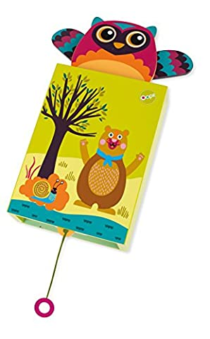 Oops Musical Pop-Up Friend Mr Wu Owl Design Wall Hanging Wooden Musical Box