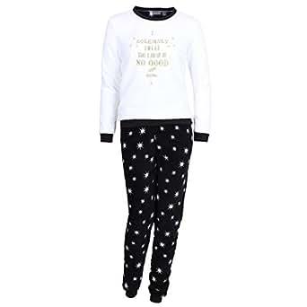 harry potter damen pyjama aus fleece 3 tlg schlafanzug set geschenkverpackung 44 46 uk 18. Black Bedroom Furniture Sets. Home Design Ideas