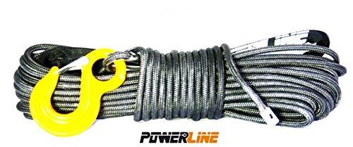 Kunststoffseil Seilwinde PowerLine 10mm x 28m mit Schutzmantel 9500kg Bruchlast, 4x4 forst